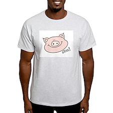 Oink Pig Ash Grey T-Shirt