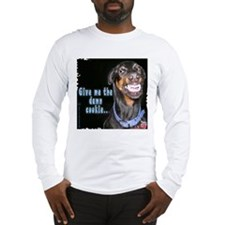 Doberman Pinscher Smiles Long Sleeve T-Shirt