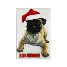 Bah Humbug Pug Rectangle Magnet