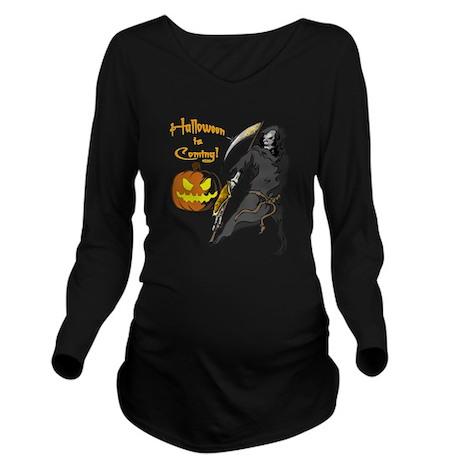 Halloween Grim Reaper Long Sleeve Maternity T-Shirt