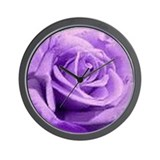 Rose Purple Wall Clock