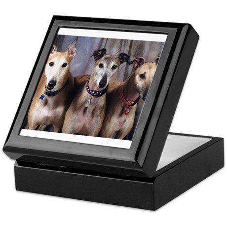 Greyhounds Three Keepsake Box