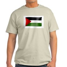 Flag of Palestine Ash Grey T-Shirt