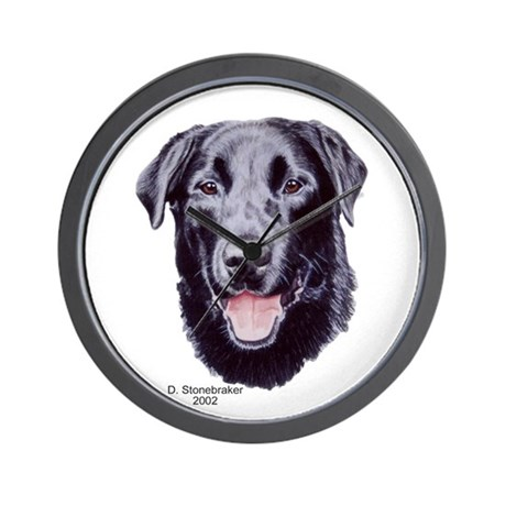 Morgan Black Labrador Wall Clock