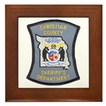 Christian County Sheriff Framed Tile