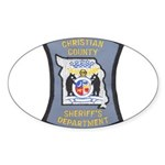 Christian County Sheriff Oval Sticker