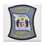 Christian County Sheriff Tile Coaster