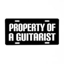 Property of a Guitarist Aluminum License Plate