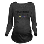 Stick Family2.png Long Sleeve Maternity T-Shirt