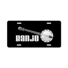 Banjo Music Instrument Aluminum License Plate