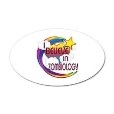 I Believe In Zombiology Cute Believer Design 20x12