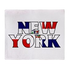 New York - Dominican Republic Throw Blanket