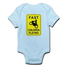 Fast Children Playing Body Suit