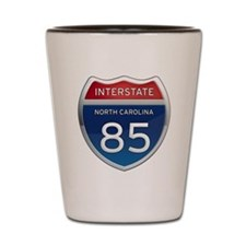 NC Interstate 85 Shot Glass