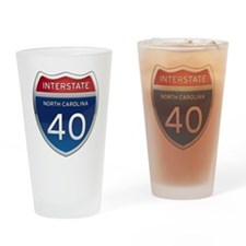 NC Interstate 40 Drinking Glass