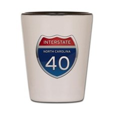 NC Interstate 40 Shot Glass
