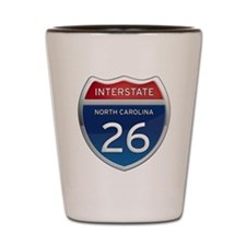 NC Interstate 26 Shot Glass