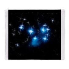 Pleiades Blue Star Cluster Throw Blanket