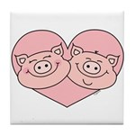 Piggy Love Tile Coaster