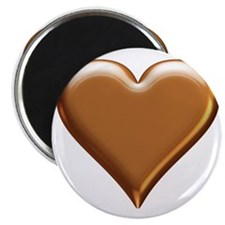 Gold Look Heart Magnet
