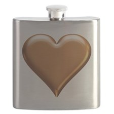 Gold Look Heart Flask