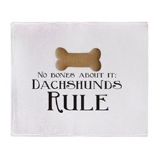 No Bones - Doxies Rule Throw Blanket