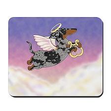 Silver Dapple Dachshund Angel Mousepad