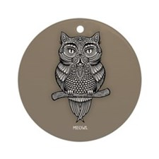 Meowl Ornament (Round)