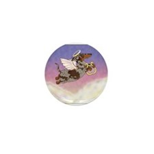 Chocolate Dapple Angel Mini Button (10 pack)