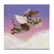 Chocolate Dapple Angel Tile Coaster