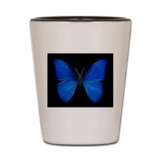 Blue Butterfly Fractal Shot Glass