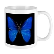 Blue Butterfly Fractal Mugs
