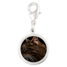 Domestic Cat Fractal Profile Charms