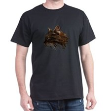 Domestic Cat Fractal Profile T-Shirt