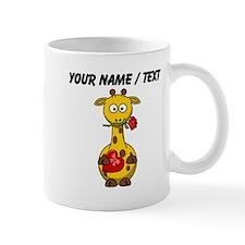 Custom Valentine Giraffe Mugs