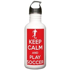 Keep calm and play soc Water Bottle