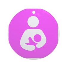 Breastfeeding Symbol [Pink] Round Ornament