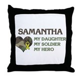 Samantha: My Hero Throw Pillow