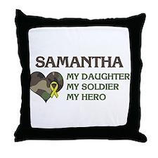 Samantha: My Hero Throw Pillow