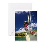 Beach christmas cards Greeting Cards (10 Pack)