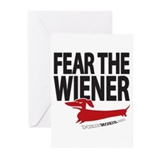 Fear the Wiener Greeting Cards (Pk of 10)