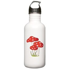 Polka Dot Mushrooms Water Bottle