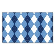 UNC Basketball Argyle Carolina Blue Decal