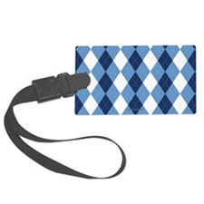 UNC Basketball Argyle Carolina Blue Luggage Tag