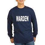 Warden (Front) Long Sleeve Dark T-Shirt