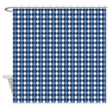 UNC Carolina Blue Basketball Argyle Shower Curtain