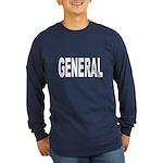 General (Front) Long Sleeve Dark T-Shirt