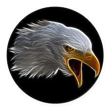 American Bald Eagle Head Round Car Magnet