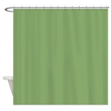 Solid Asparagus Green Shower Curtain