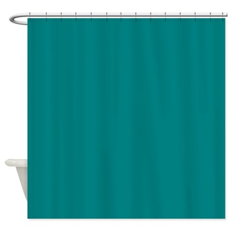 Teal shower curtain by theshowercurtain for Teal coloured bathroom accessories